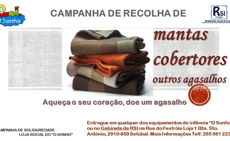 CAMPANHA DE RECOLHA DE MANTAS COBERTORES  OUTROS AGASALHOS